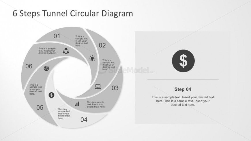 Tunnel Design PowerPoint Diagrams