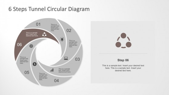 Creative Flat Slide Design PowerPoint with Process Steps