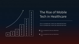 Mobile Healthcare Technology PowerPoint Infographics