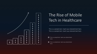 Rise In Mobile Technology Healthcare PowerPoint Slides