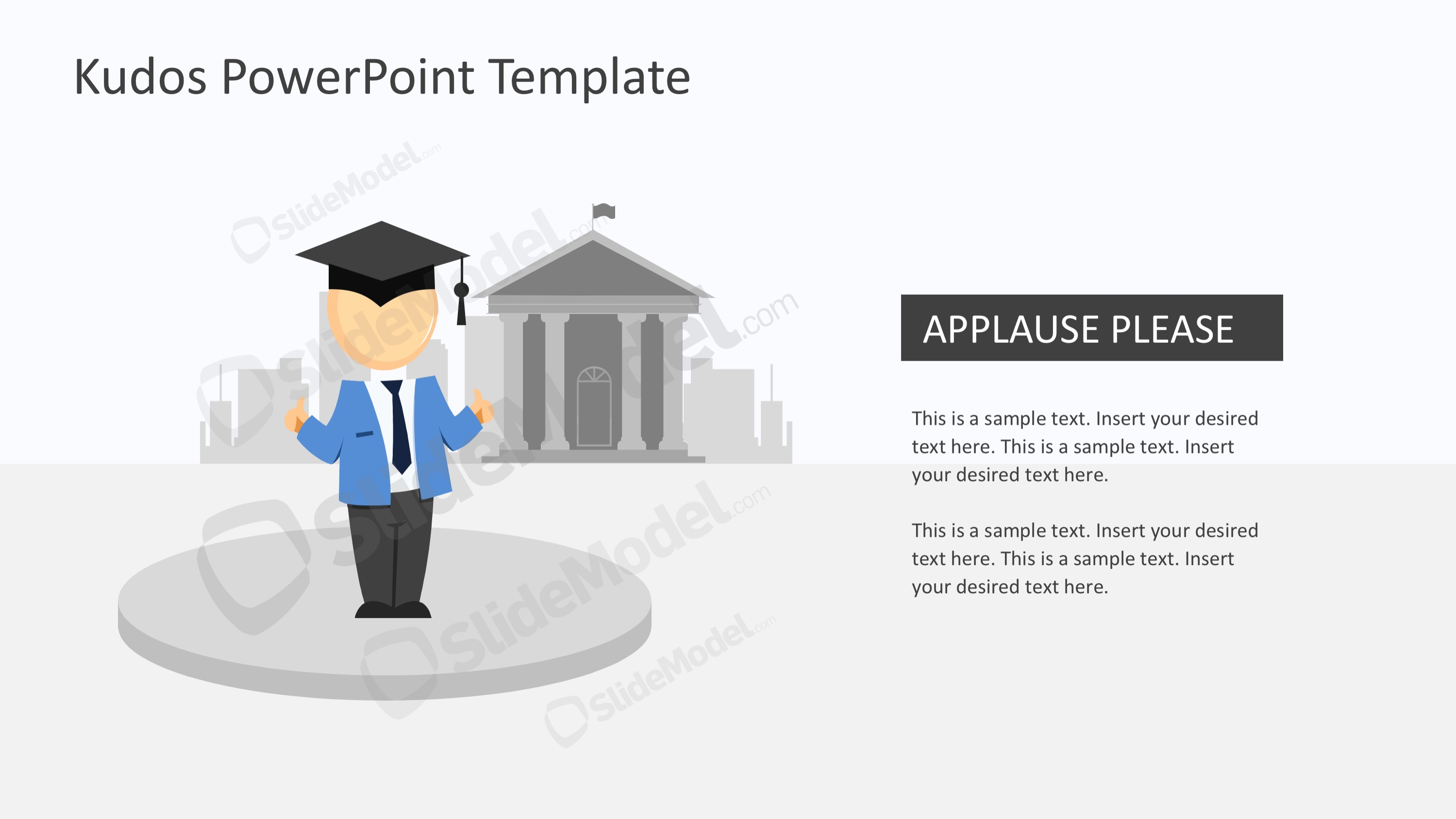 kudos metaphor powerpoint template slidemodel
