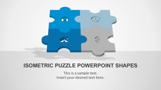 4 Step Puzzle PowerPoint Shapes