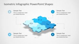 4-Piece Isometric Puzzle Diagram for PowerPoint