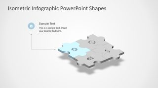 4 Step Puzzle Templates PowerPoint Presentaion