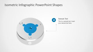 4 Step Circular Puzzle Diagram Template