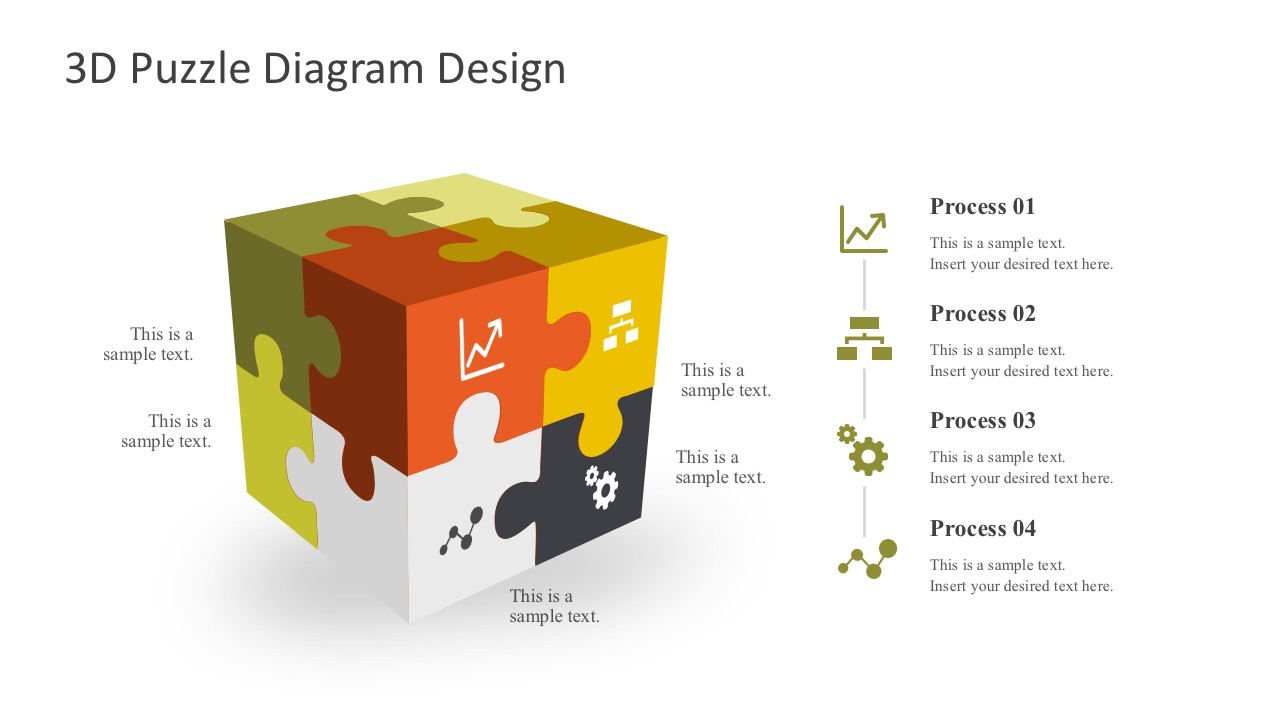 4 Steps Box Diagrams PowerPoint Shapes