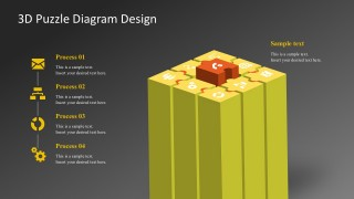 3D Puzzle Diagram Design PowerPoint Templates