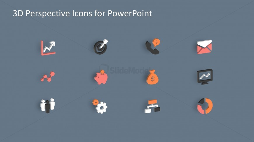 3D Business Infographics PowerPoint Icons