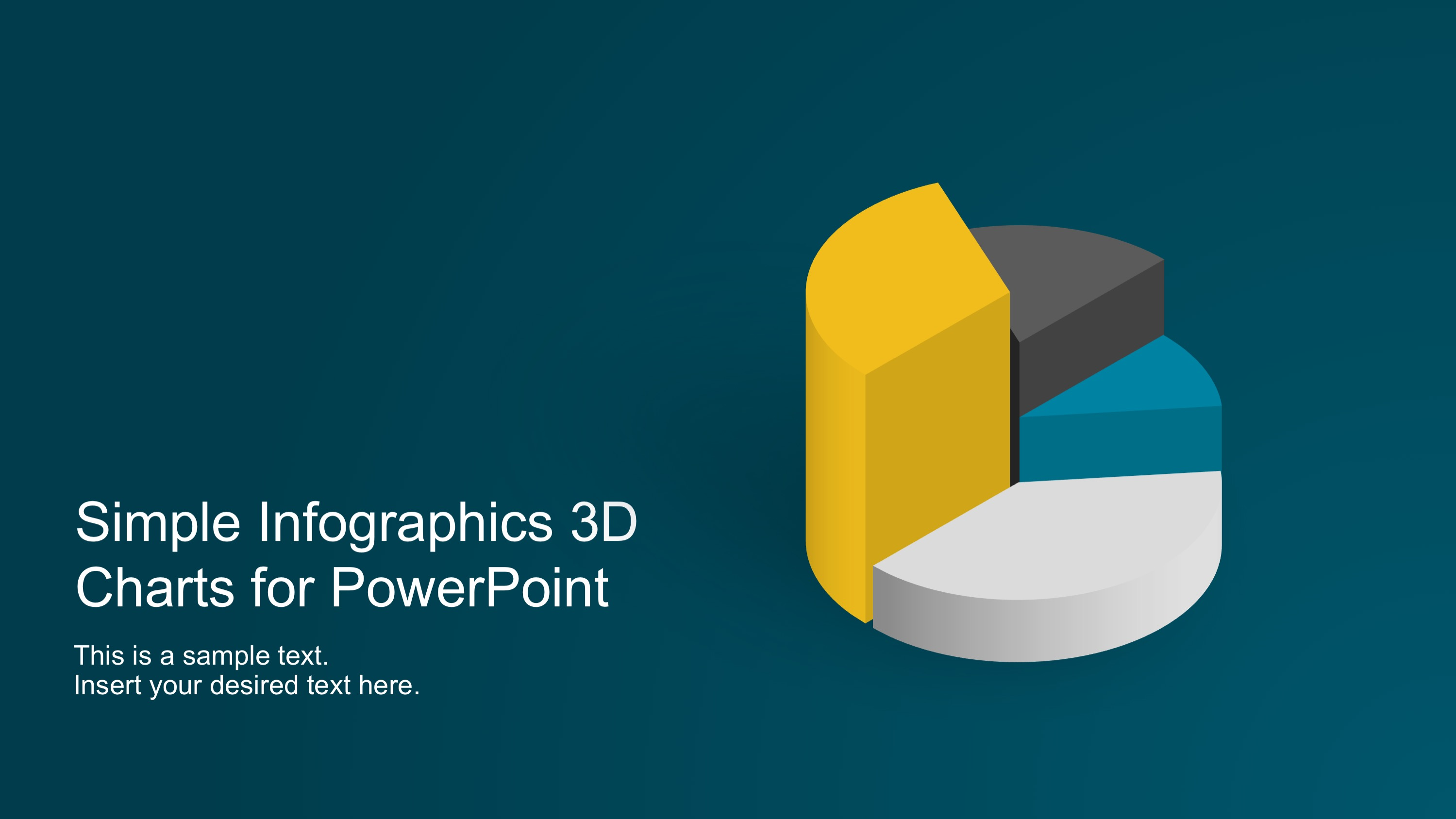 PPT Charts in 3D for Infographics Banners