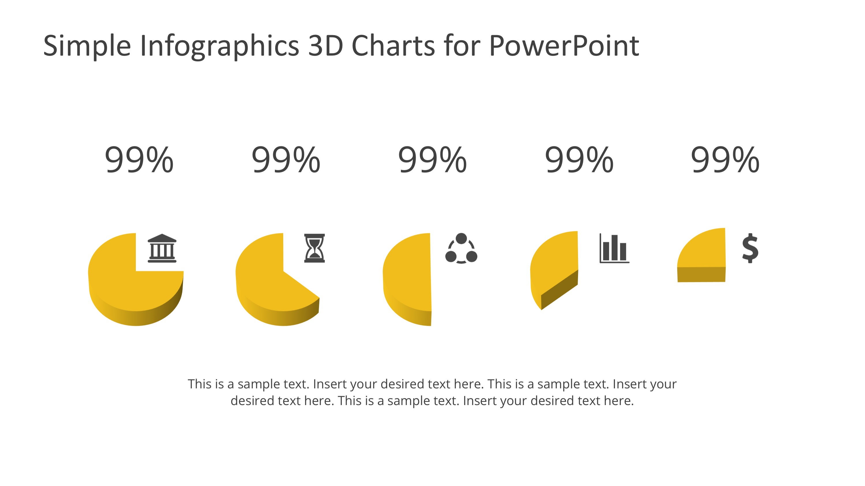 PPT Pie Charts Infographic Elements