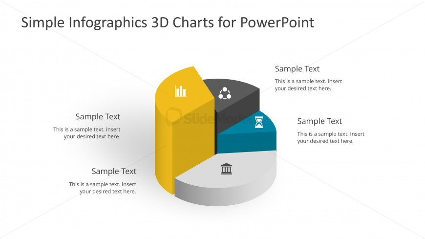 Cylinder 3D Chart For PowerPoint Infographics