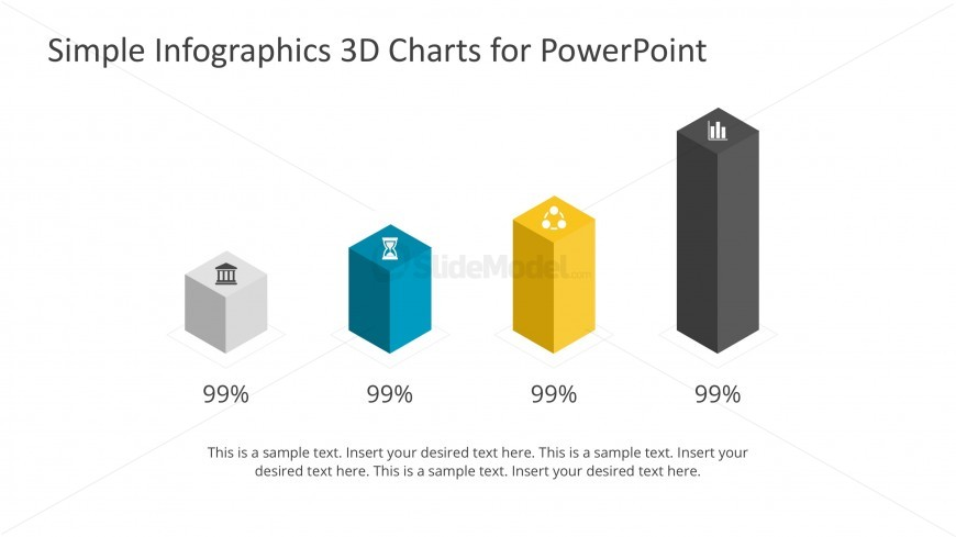 PPT Column Charts for Inographics