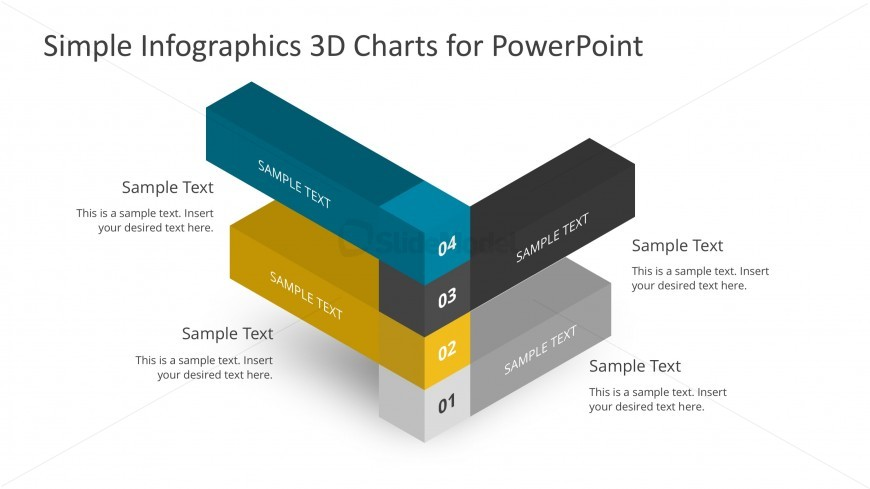 PPT Infographics Perpendicular Bar Charts