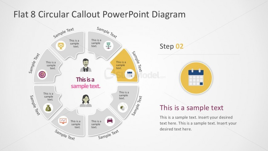 8 Steps Round PowerPoint Diagram Slides
