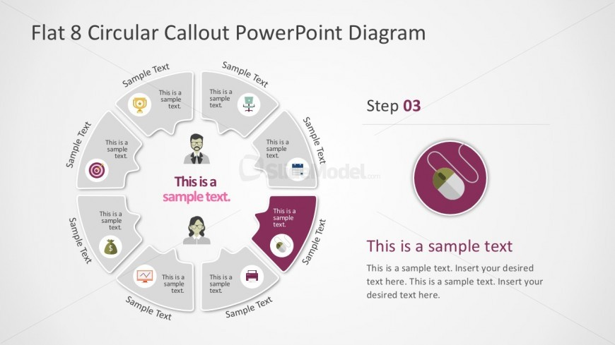 Nice Rounded Diagram PowerPoint Infographics