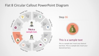 Circular Infographics For PowerPoint Template Slides