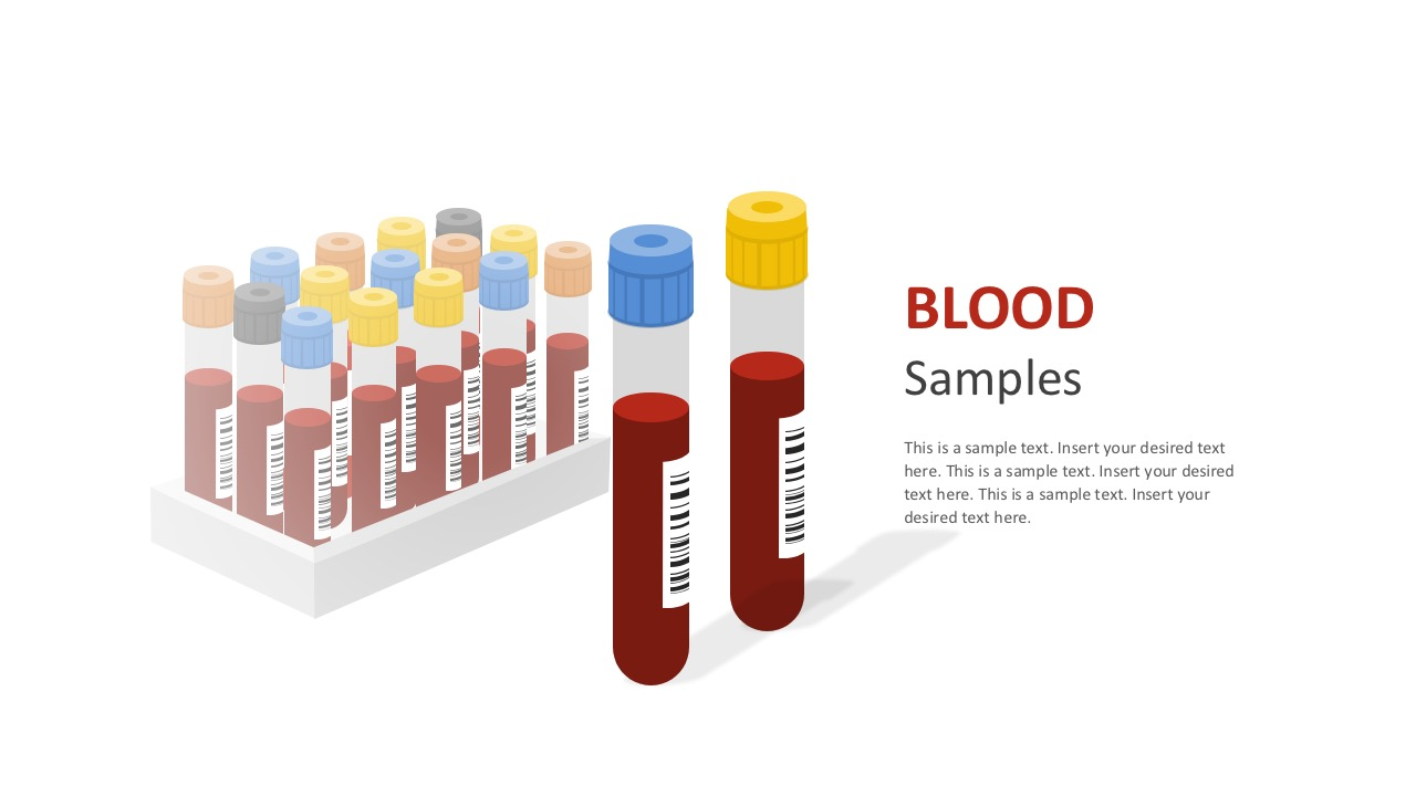 Blood Tube Samples Vectors For PowerPoint