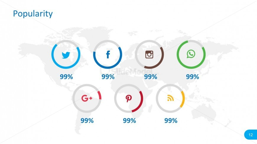Circular Social Media Icons Graphics for PowerPoint