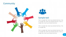 Colourful PowerPoint Hands Graphics Vectors