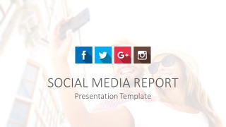 Cool Social Media Cover Slide for PowerPoint