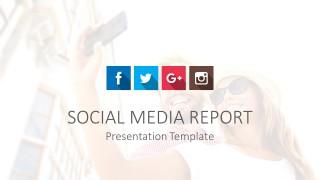 Cool Social Media Cover Slide for PowerPoint