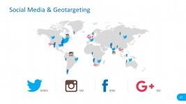 Social Media Geo Targeting PowerPoint Vectors