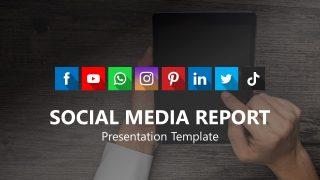 Cover Slide for Social Media Report PowerPoint