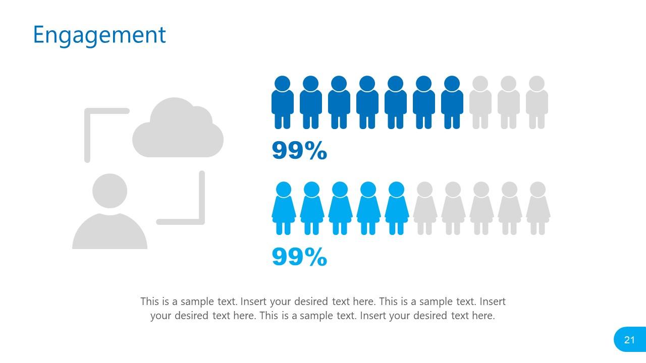 Presentation of Social Media Engagement Statistics