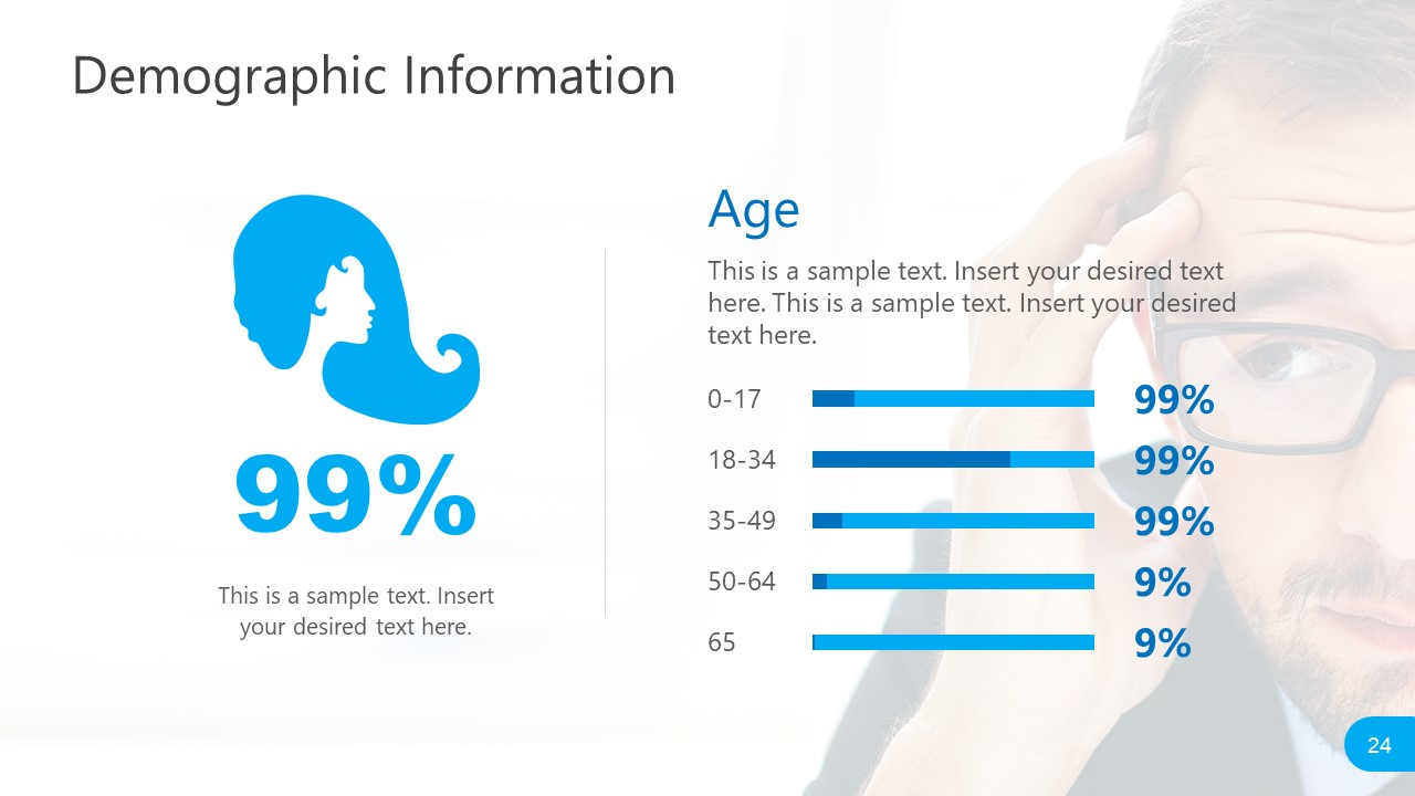 PowerPoint Female Demographic Report for Social Media