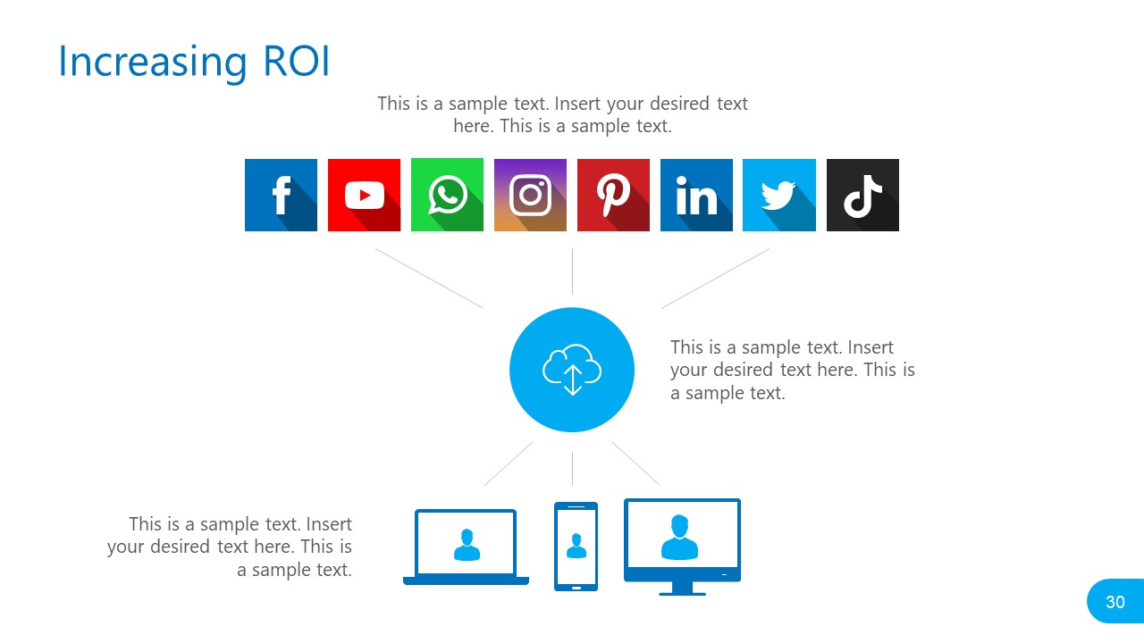 PowerPoint Report Template for Social Media Platforms