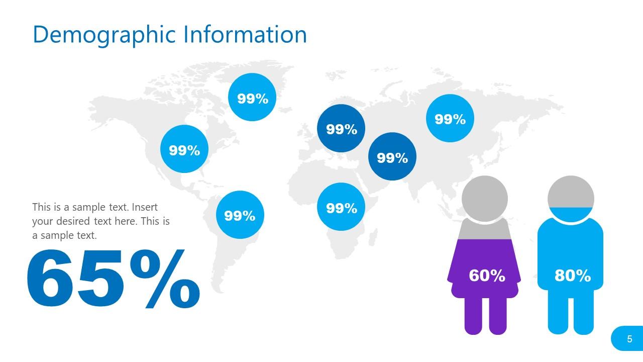 PPT Demographics Social Media Statistics Template
