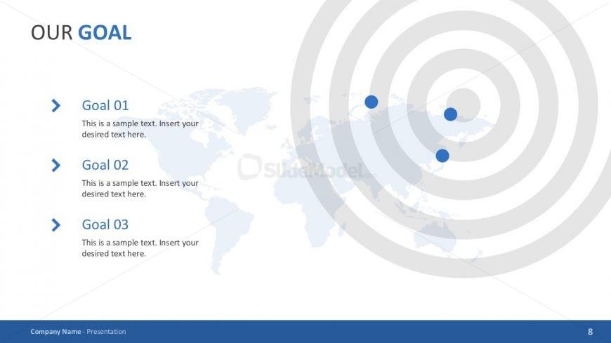 Business Goals Bullet Points Slide Deck