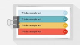 4 Steps Clipboard Design PowerPoint Slides
