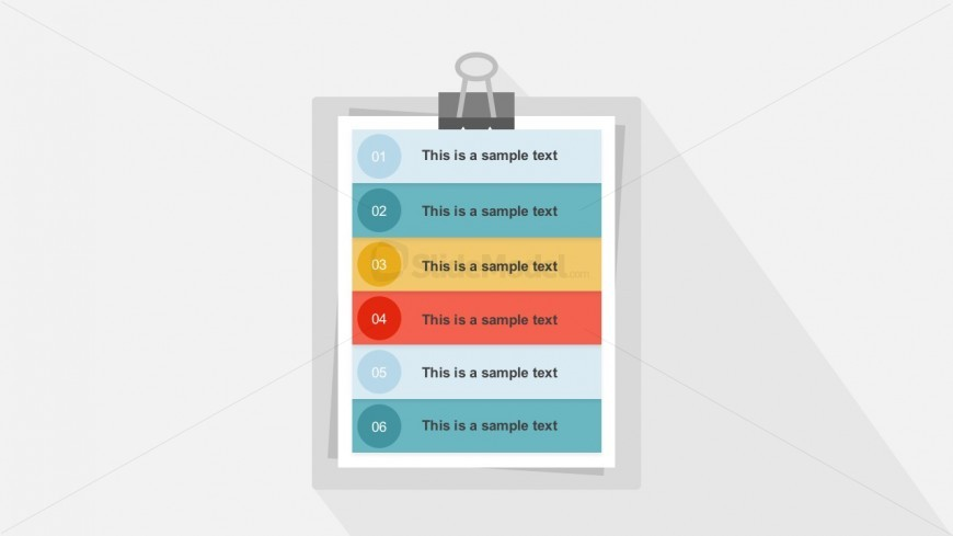 Vertical Clipboard List Business Agenda Slides