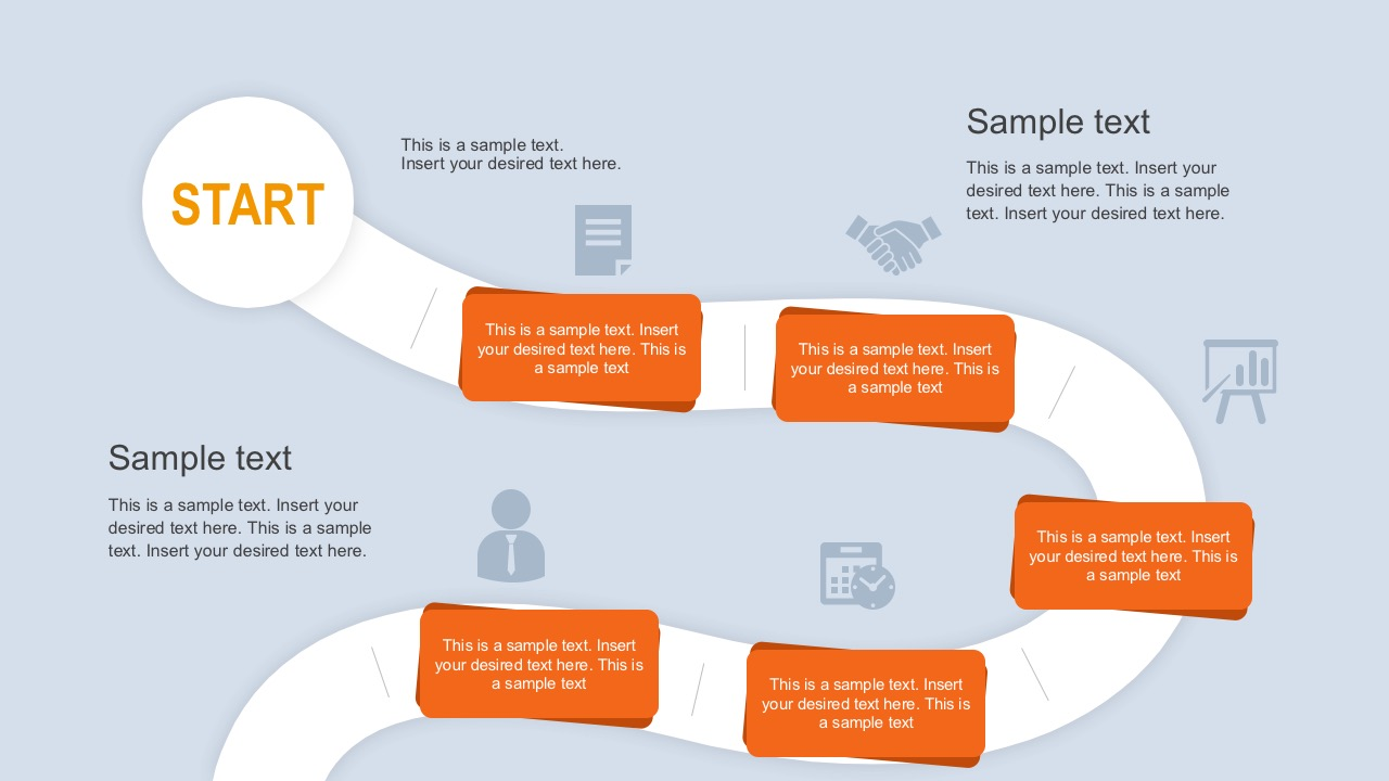 Flat Roadmap Horizontal Timelines For PowerPoint Free Roadmap - Roadmap timeline template