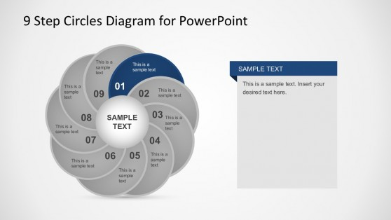 Circular PowerPoint Slide Diagrams