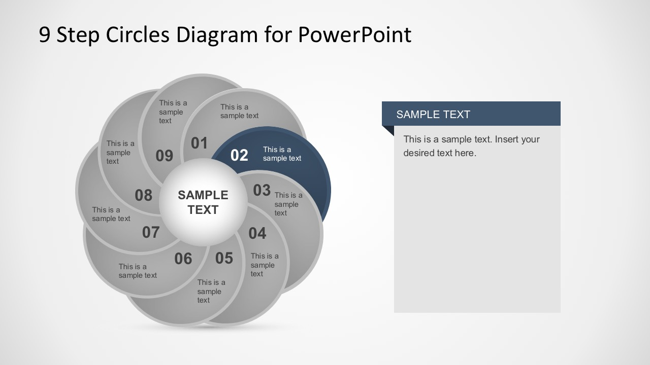 Awesome PowerPoint Circle Blade Diagrams