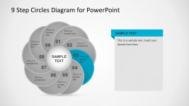 9 Steps Flat Circle Chart Presentation Slides