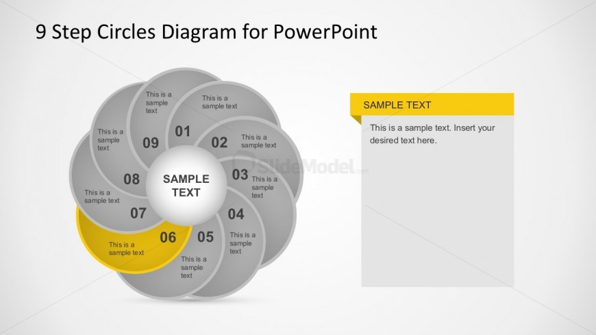 9 Steps Process Illustrations in PowerPoint