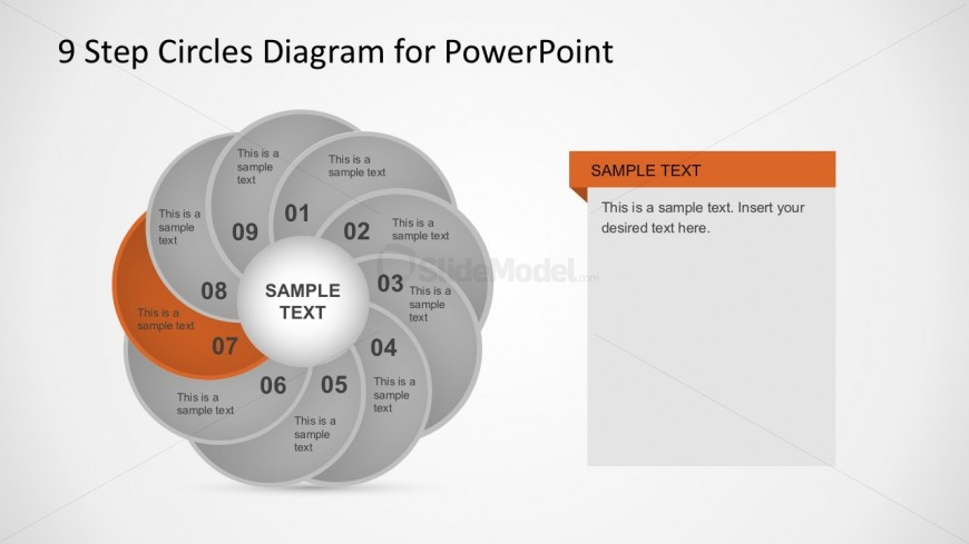 PowerPoint Circle Diagrams with 9 Segments