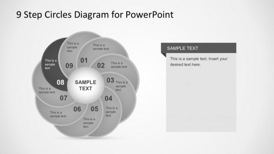 9 Quadrants Circle Diagrams PowerPoint Templates