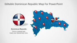 PowerPoint Dominican Republic Map