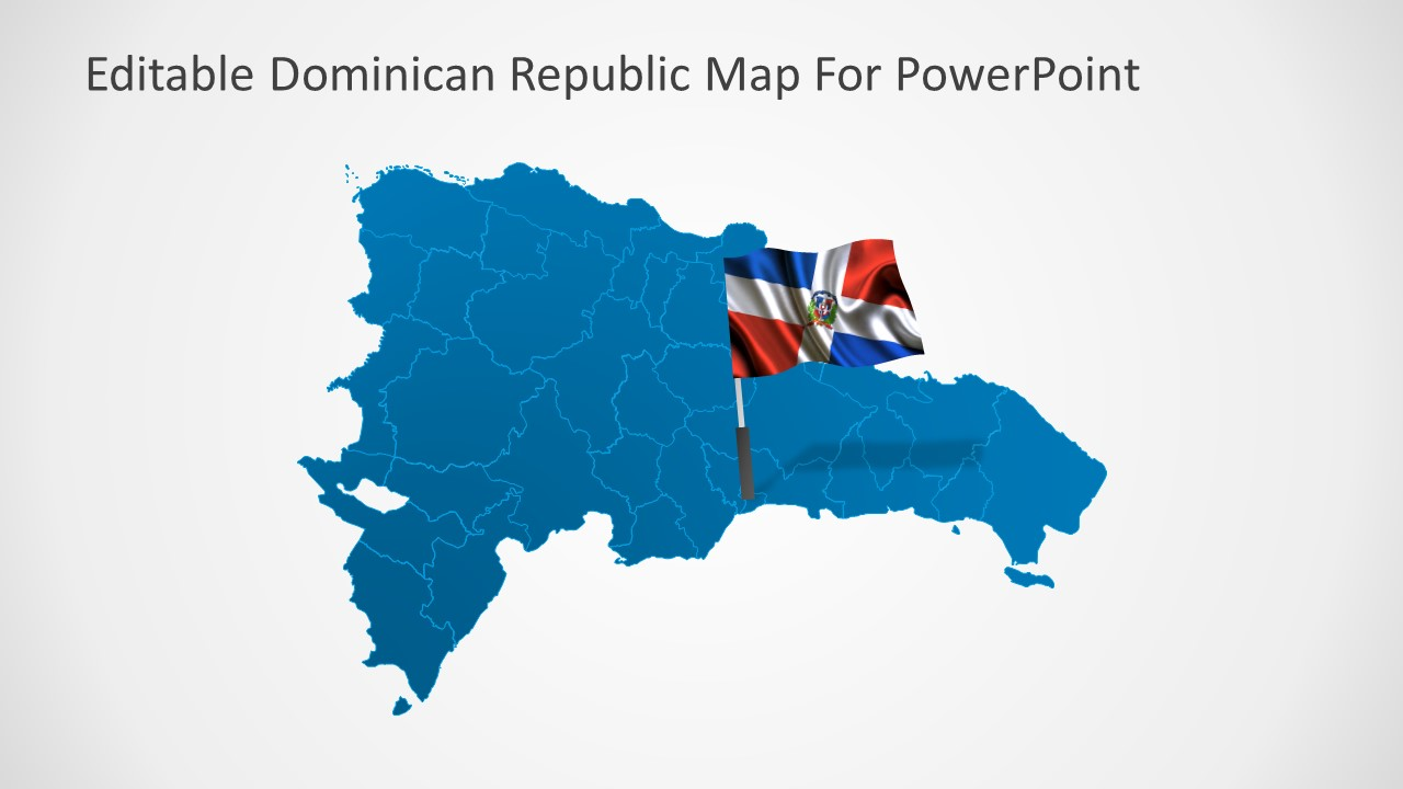 Dominican Republic PowerPoint Map - SlideModel on