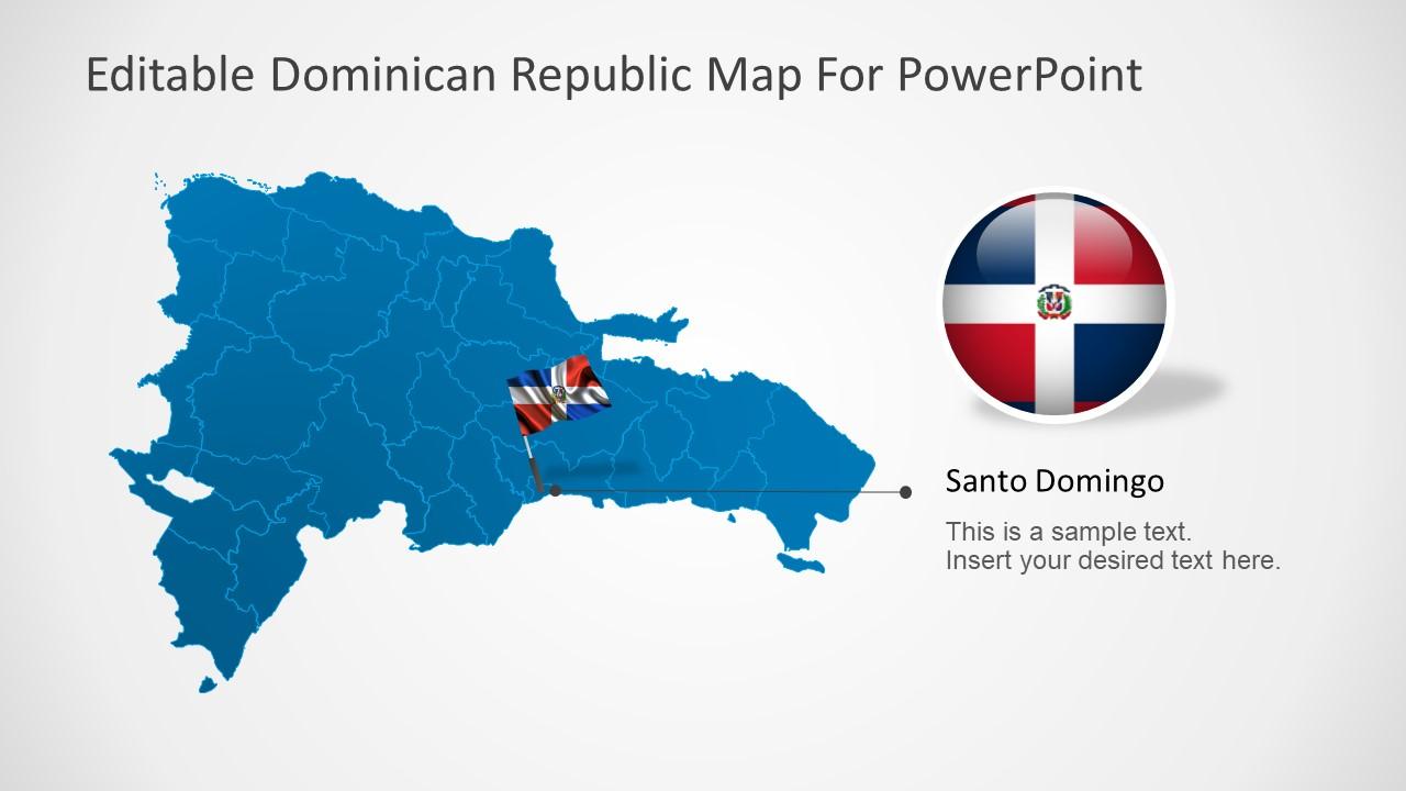 Dominican Republic PowerPoint Map SlideModel