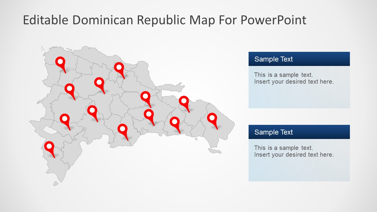 Dominican Republic PowerPoint Map - SlideModel