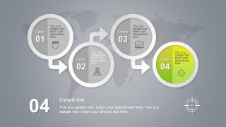 4 Step Circular Badge PowerPoint