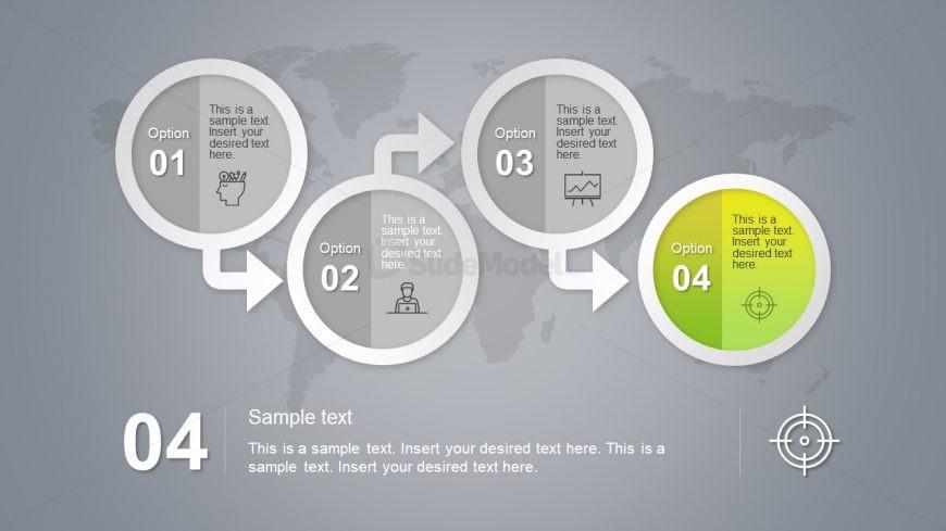 4 Step Circular Badge PowerPoint