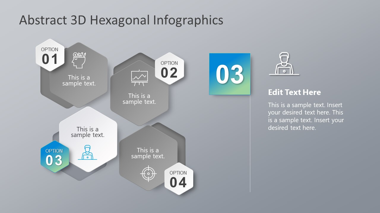 Abstract 3D Image Hexagon PowerPoint
