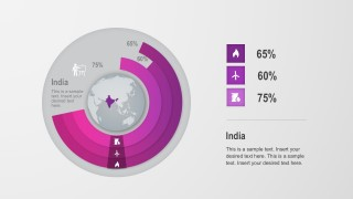 Colored India Donut Chart PowerPoint Vectors