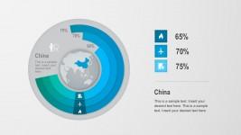 China Global Population Donut Chart Elements